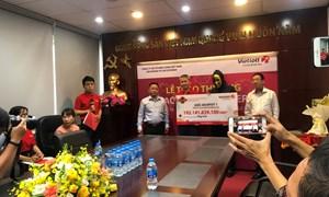 Vietlott trao thưởng hơn 192 tỉ đồng cho một khách hàng may mắn