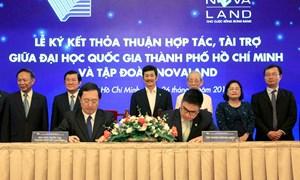 Đại học Quốc gia TP. Hồ Chí Minh tiếp nhận 10 tỉ đồng tài trợ từ Tập đoàn Novaland