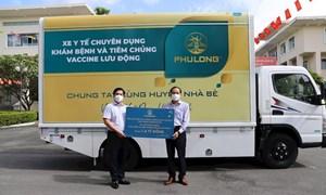 Công ty Địa ốc Phú Long - Tập đoàn Sovico trao tặng huyện Nhà Bè xe y tế chuyên dụng