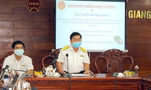 Cục Thuế tỉnh Hậu Giang tổ chức đối thoại trực tuyến giải đáp vướng mắc cho doanh nghiệp