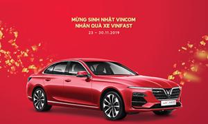 Vincom tặng Vinfast Lux A2.0 1 tỷ đồng mừng 15 năm thành lập