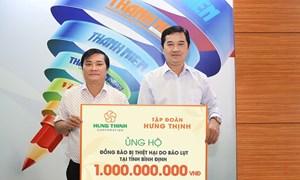 Tập đoàn Hưng Thịnh ủng hộ 1 tỷ đồng cho người dân bị bão lũ tại Bình Định