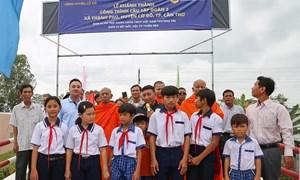 Vietbank tài trợ xây cầu giao thông nông thôn thứ 2 tại xã Thạnh Phú, Cần Thơ