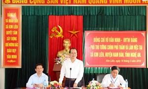 Phó Thủ tướng Vũ Văn Ninh thị sát chương trình xây dựng nông thôn mới tại Nghệ An