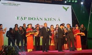 Kiến Á lọt vào top 50 Thương hiệu xanh Việt Nam 2015