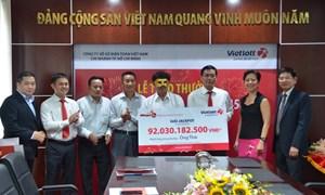 Vietlott trao giải hơn 92 tỷ đồng cho khách hàng đến từ Trà Vinh
