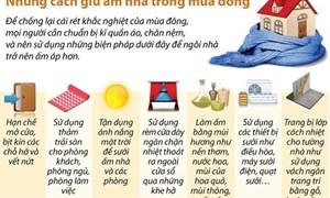 [Infographics] Những cách giữ ấm nhà trong mùa Đông giá rét