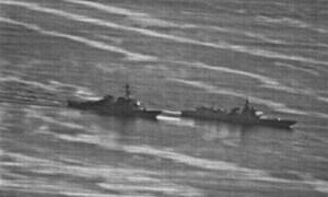 [Video] Mỹ công bố video suýt va chạm tàu Trung Quốc trên Biển Đông