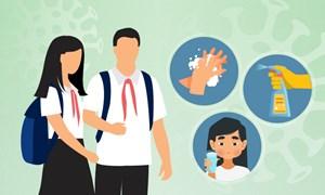 [Infographics] Hướng dẫn phòng tránh dịch corona cho học sinh