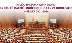 [Infographics] 16 mốc quan trọng về kỳ bầu cử đại biểu Quốc hội khóa XV, Hội đồng nhân dân các cấp