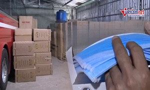 [Video] Bắt 1 triệu khẩu trang sắp được tuồn ra nước ngoài