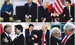 [Video] Lý giải cái bắt tay luôn kéo đối phương về phía mình của tổng thống Trump