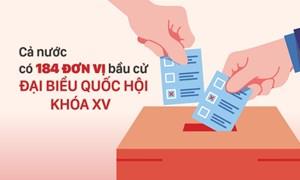 [Infographics] 184 đơn vị bầu cử đại biểu Quốc hội trong cả nước