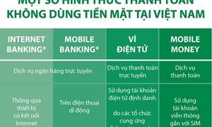 [Infographics] Một số hình thức thanh toán không dùng tiền mặt tại Việt Nam