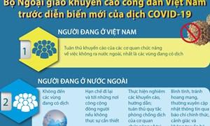 [Infographics] Các khuyến cáo của Bộ Ngoại giao với công dân về dịch COVID-19