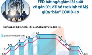 [Infographics] Fed bất ngờ giảm lãi suất để hỗ trợ kinh tế Mỹ
