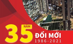 [Infographics] 35 năm đổi mới: Kinh tế phát triển nhanh và bền vững