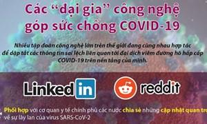 """[Infographics] Các """"đại gia"""" công nghệ góp sức chống COVID-19"""