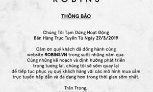 Sàn thương mại điện tử Robins.vn đóng cửa