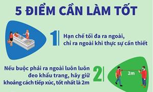 [Infographics] 5 điểm cần làm tốt để phòng, chống dịch COVID-19