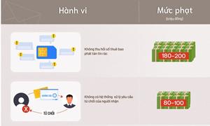 [Infographics] Nhắn tin nhắn rác có thể bị phạt tới 80 triệu đồng