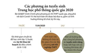 [Infographics] Các phương án tuyển sinh Trung học Phổ thông Quốc gia 2020