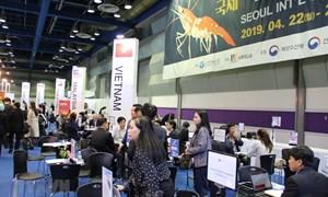 Hải sản Việt khẳng định thương hiệu ở Hội chợ hải sản quốc tế Seoul