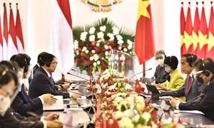 Thủ tướng Phạm Minh Chính hội đàm với Tổng thống Indonesia, định hướng quan hệ Đối tác Chiến lược giữa hai nước