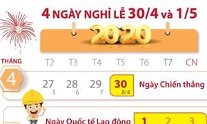 [Infographics] Thông tin về bốn ngày nghỉ lễ dịp 30/4 và 1/5