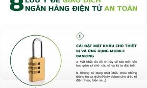 [Infographics] 8 lưu ý để giao dịch ngân hàng điện tử an toàn