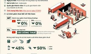 [Infographic] Những Hiệp định thương mại tự do Việt Nam hưởng lợi trong năm 2019