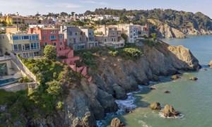 [Ảnh] Loạt dinh thự bên vách đá giá hàng triệu USD ở San Francisco