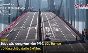 [Video] Cầu ở Trung Quốc bất ngờ