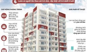 [Infographics] Đảm bảo an toàn cho trẻ em khi sống ở nhà cao tầng