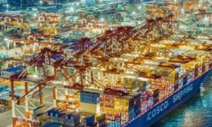 Giá trị thương mại toàn cầu tăng cao trong quý I/2021