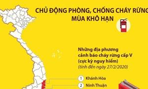 [Infographics] Chủ động phòng, chống cháy rừng mùa khô hạn