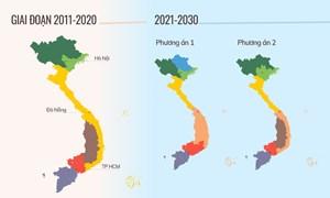 [Infographics] Hai phương án phân vùng đến năm 2030