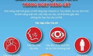 [Infographics] Cách giảm tác hại của tia cực tím trong ngày nắng gắt
