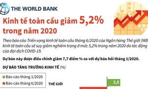 [Infographics] WB: Kinh tế toàn cầu giảm 5,2% trong năm 2020