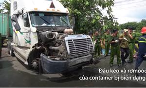 [Video] Ngổn ngang vụ container tông 5 người tử vong ở Tây Ninh