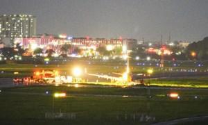 [Video] Điều gì xảy ra trên bầu trời Tân Sơn Nhất khi máy bay trượt đường băng