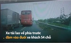 [Video] Ôtô dừng bắt khách giữa đường gây tai nạn liên hoàn