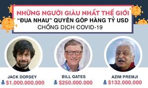 [Infographics] Những người giàu nhất thế giới góp hàng tỷ USD chống dịch Covid-19