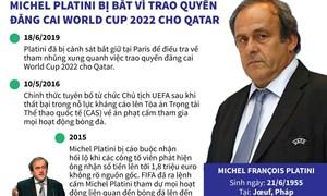 [Infographics] Michel Platini bị bắt vì trao quyền đăng cai World Cup 2022 cho Qatar