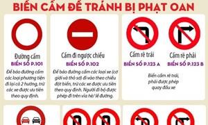 [Infographics] Từ 1/7, tài xế cần nhớ các loại biển cấm để tránh bị phạt oan