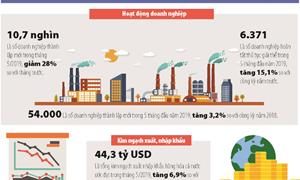 [Infographics] Một số chỉ tiêu kinh tế vĩ mô trong tháng 5/2019