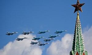 [Video] Dàn phi cơ hùng hậu của Nga trên Quảng trường Đỏ