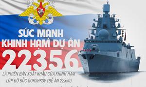 [Infographic] Sức mạnh khinh hạm thuộc dự án 22356 của hải quân Nga