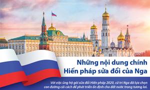 [Infographics] Những nội dung chính trong hiến pháp sửa đổi của Nga