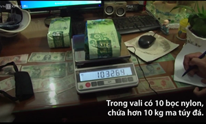 [Video] Ba người chở thuê 10 kg ma túy với tiền công 5 triệu đồng